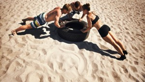 Beach Workout Action Point